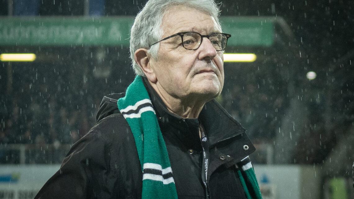 Christoph Strässer Ende 2019 beim Spiel gehen Rostock. Foto: Schulte