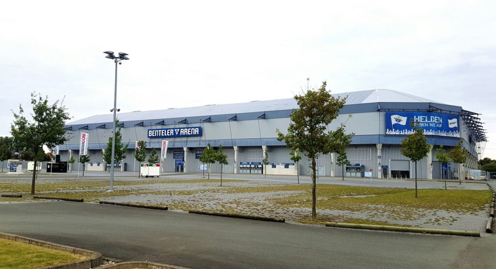 Das Paderborner Stadion, 2008 eingeweiht. (Foto: Schulte)